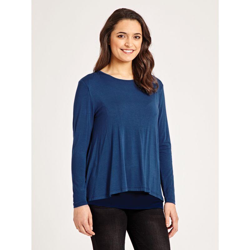 Camiseta Embarazo y Lactancia Doble Tejido azul