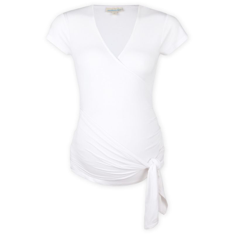 Camiseta Premamá Corta Elegant Blanca