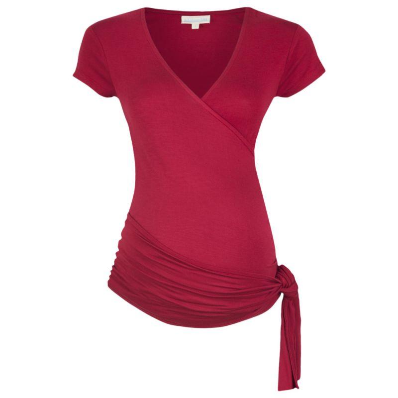 Camiseta Premamá Corta Roja