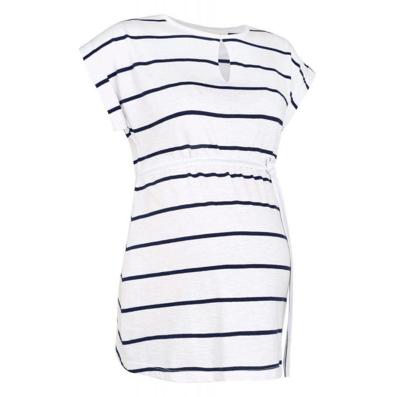 Camiseta blanca Premamá Cuello Redondo - Manga Corta