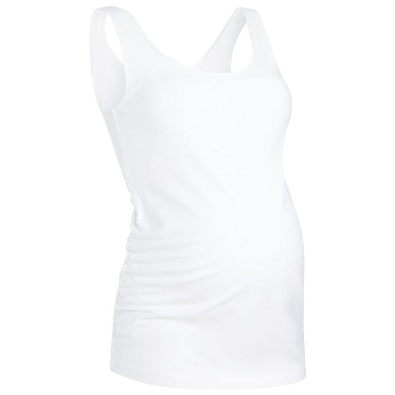 Camiseta Premamá blanca de Tirantes Blanca