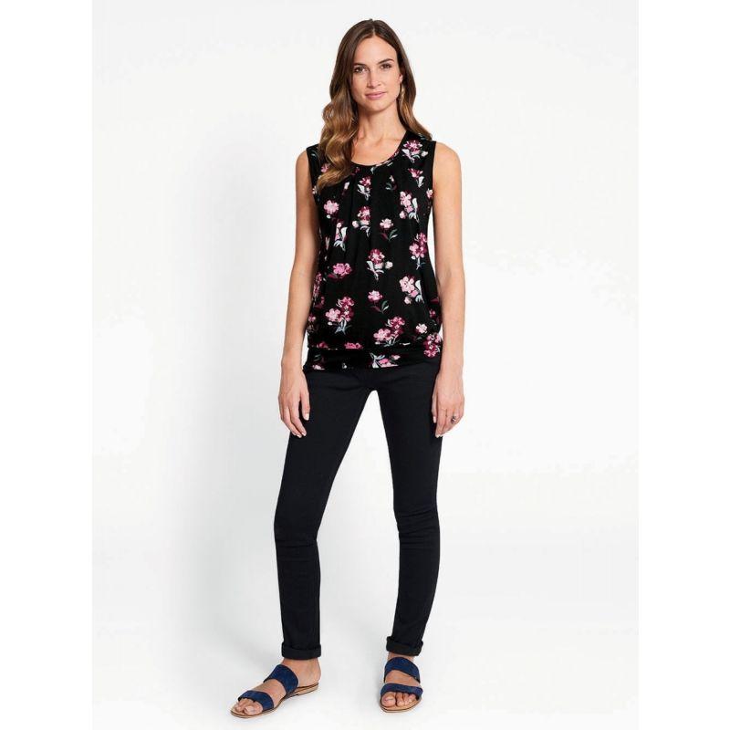 Camiseta Premamá y Lactancia Black Floral