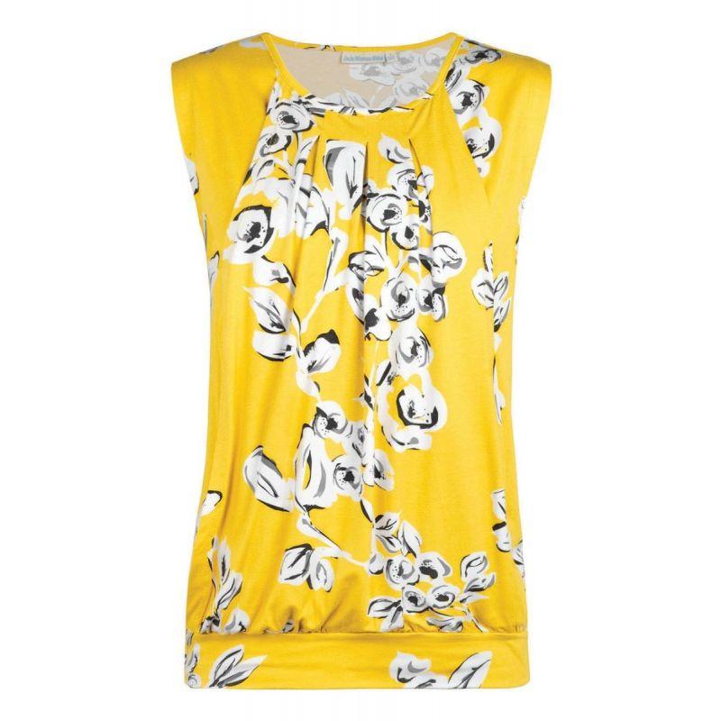 Camiseta Premamá y Lactancia Floral Amarilla
