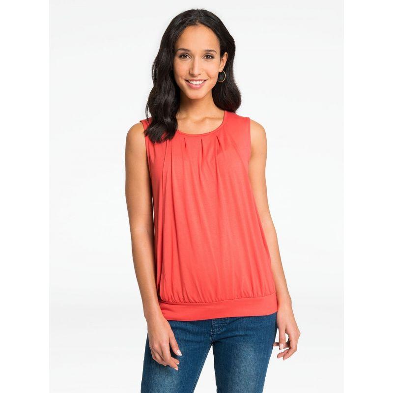 Camiseta Premamá y Lactancia Heidi color coral
