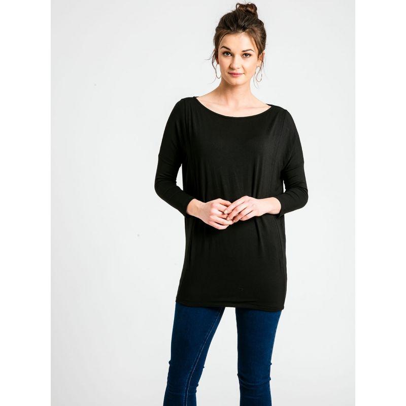camiseta negra de premamá y lactancia