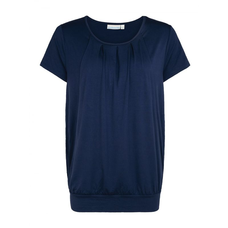Camiseta Premamá y Lactancia Plisada navy