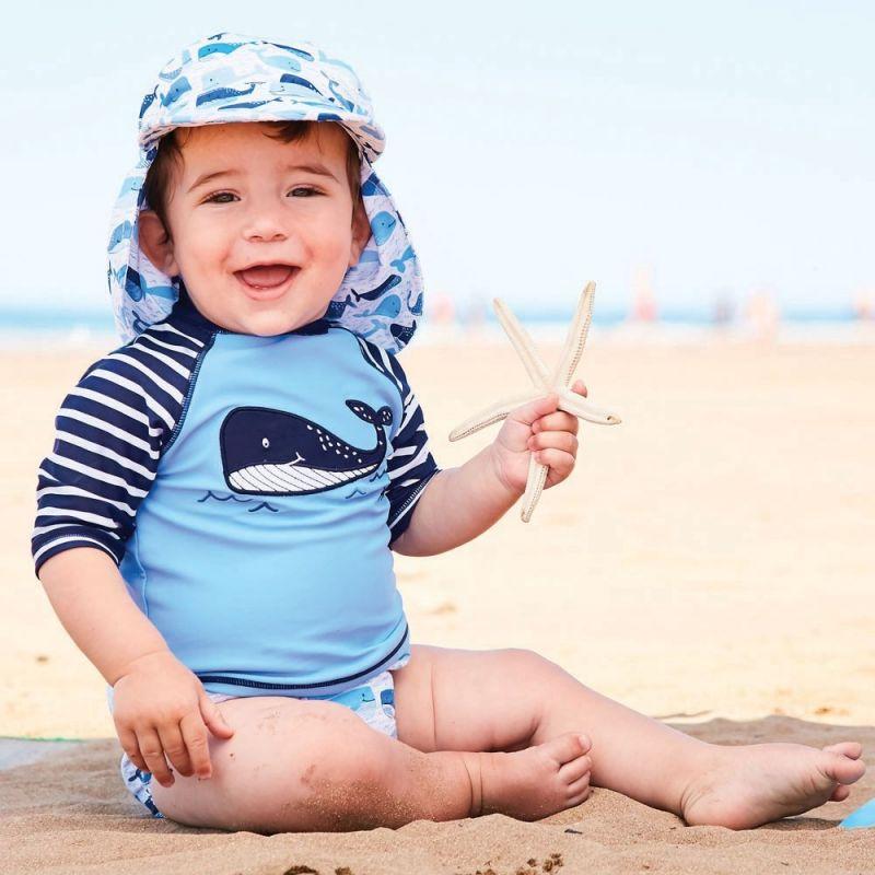 Camiseta Protección Solar Bebé y Niño Ballena