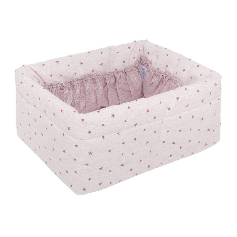 Canastilla Acolchada Stela rosa - Cambrass