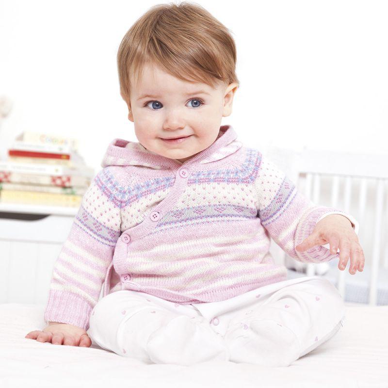 Chaqueta Bebé Cachemir Rosa