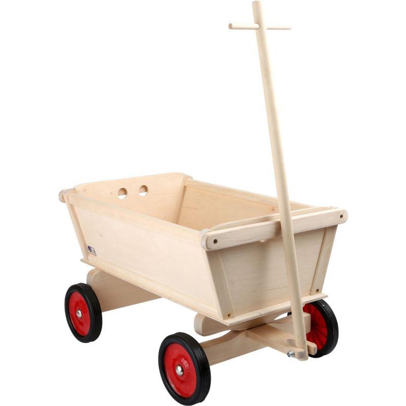 Carrito de madera para niños en color Natural - Legler