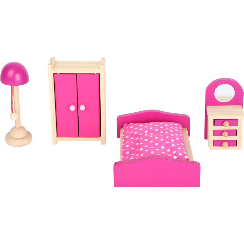 cama Casa de muñecas con techo desmontable