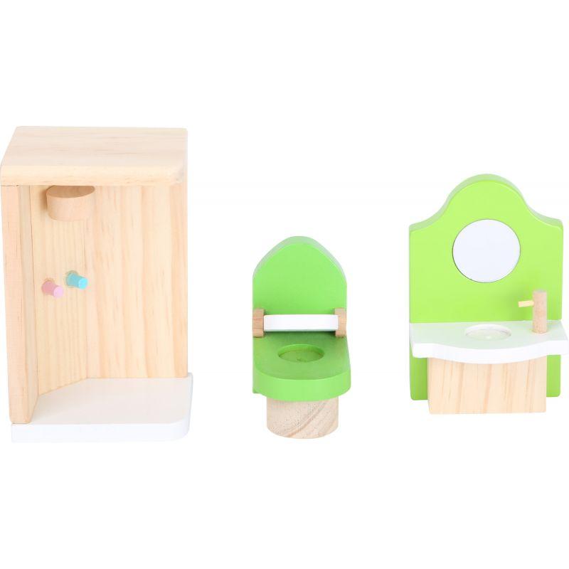 baño Casa de muñecas con techo desmontable
