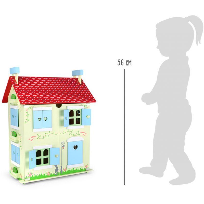 altura de la Casa de muñecas con techo desmontable