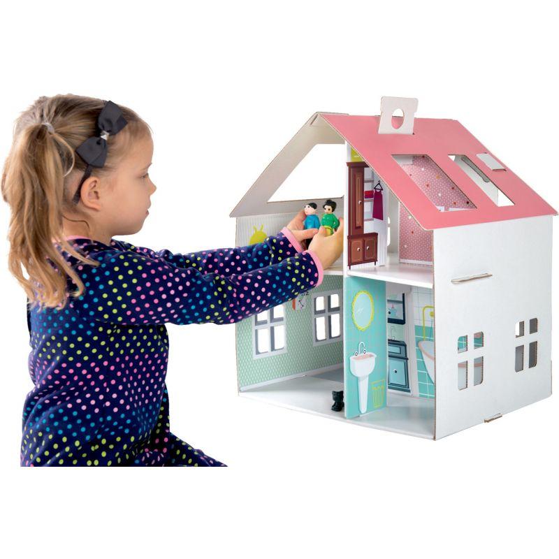 Casa de muñecas de cartón para pegar