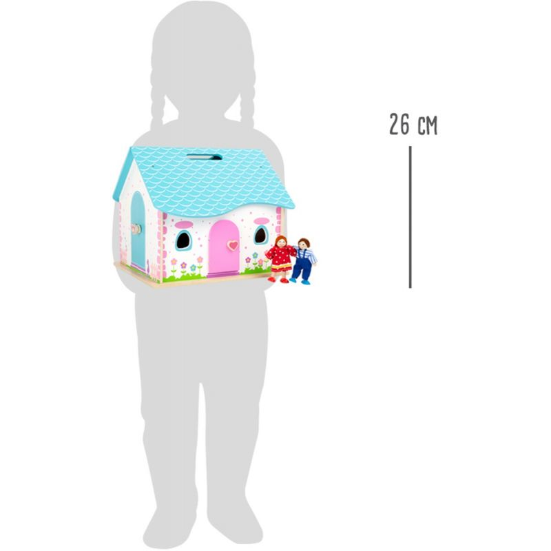 altura de la Casa de muñecas de madera Abrir y Cerrar - Legler