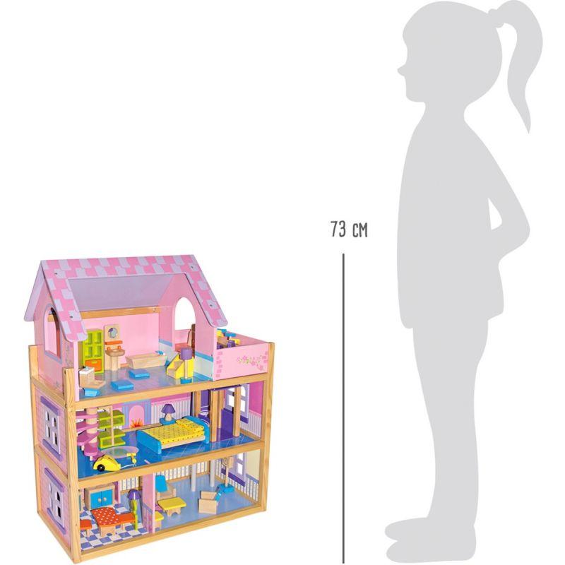 altura Casa de Muñecas Rosa - Legler