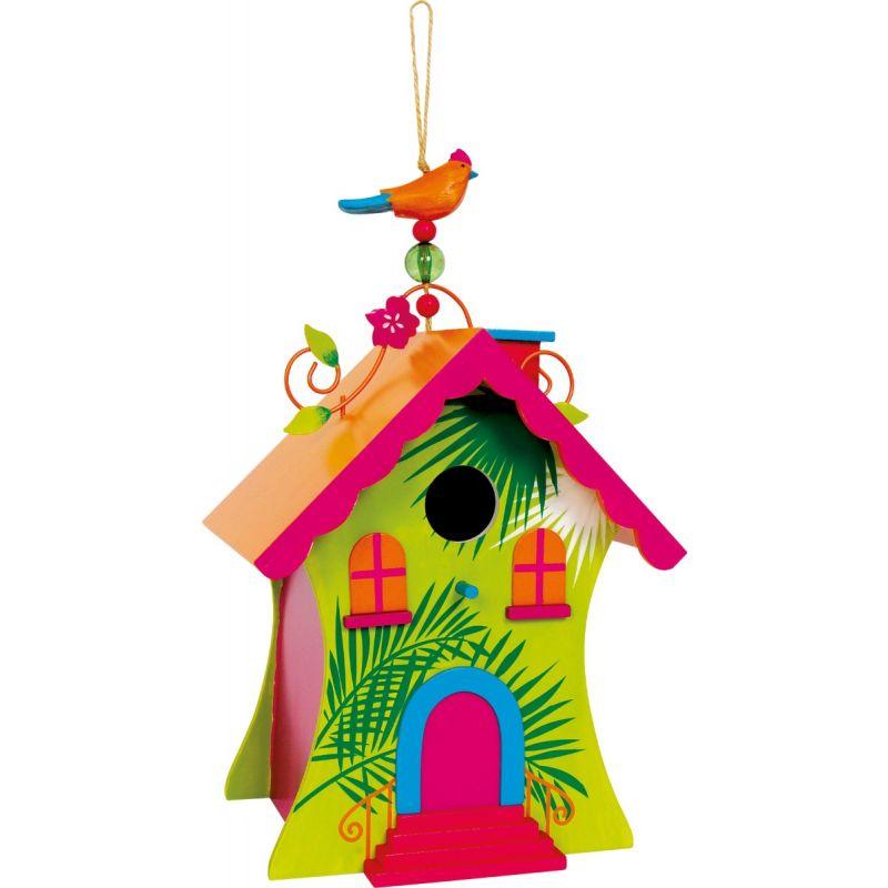 Casa para pájaros Hawaii - Dimensiones 20 x 17 x 33 cm