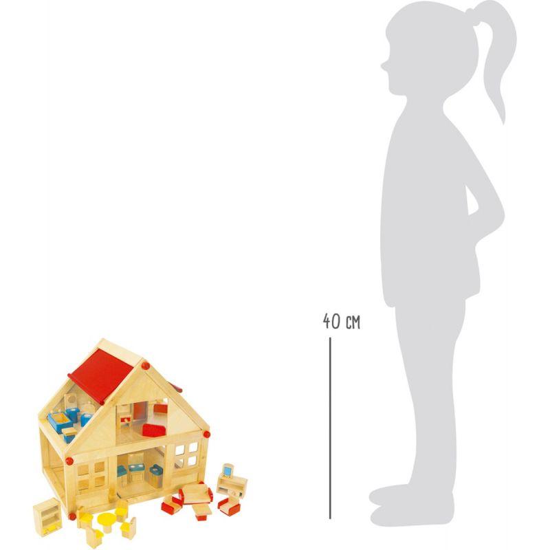 altura Casa de Muñecas con Muebles - Legler