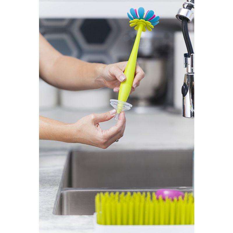 Cepillo Boon con forma de flor de silicona