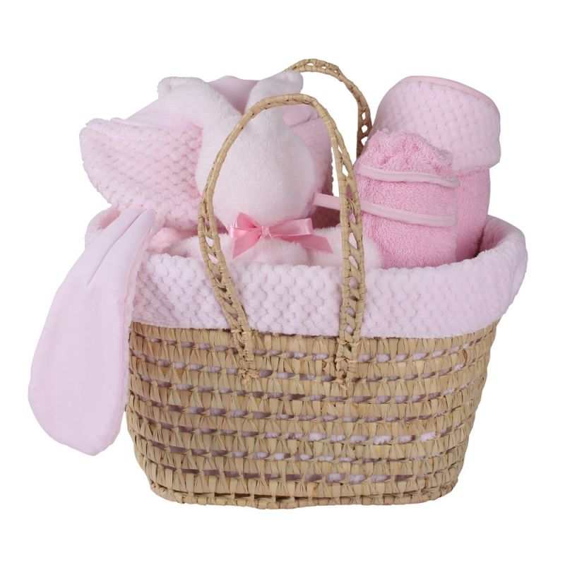Cesta Regalo Recién Nacido Honeycomb rosa - Clair de Lune