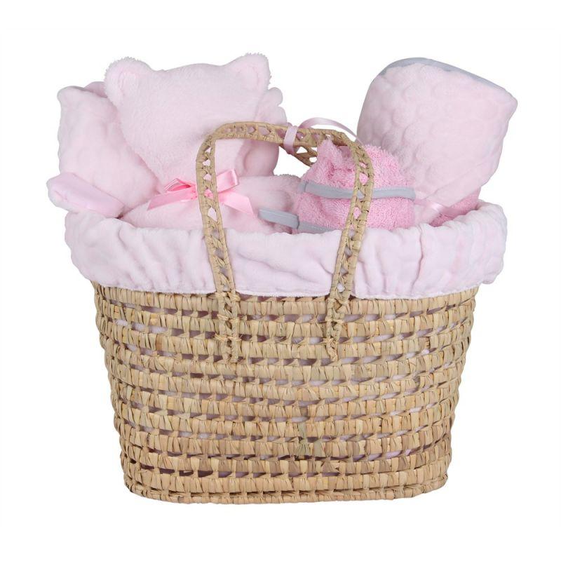 Cesta Regalo Recién Nacido Marshmallow rosa - Clair de Lune