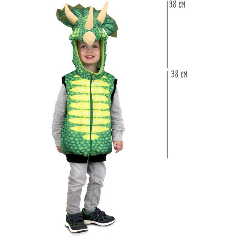 dimensiones Chaleco disfraz Dinosaurio Triceratops