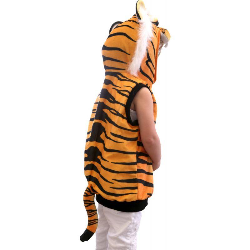 Chaleco Disfraz Tigre de espaldas