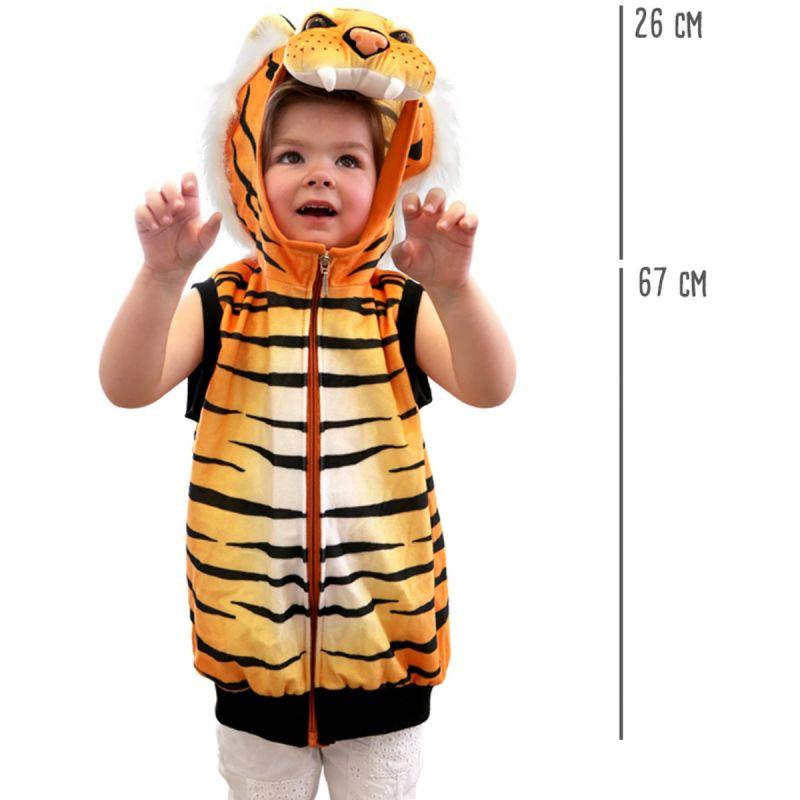 dimensiones Chaleco Disfraz Tigre -
