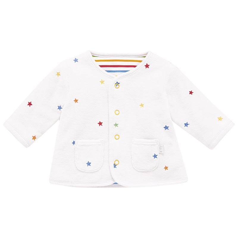 Chaqueta para Bebés Bordado Estrellitas de Colores
