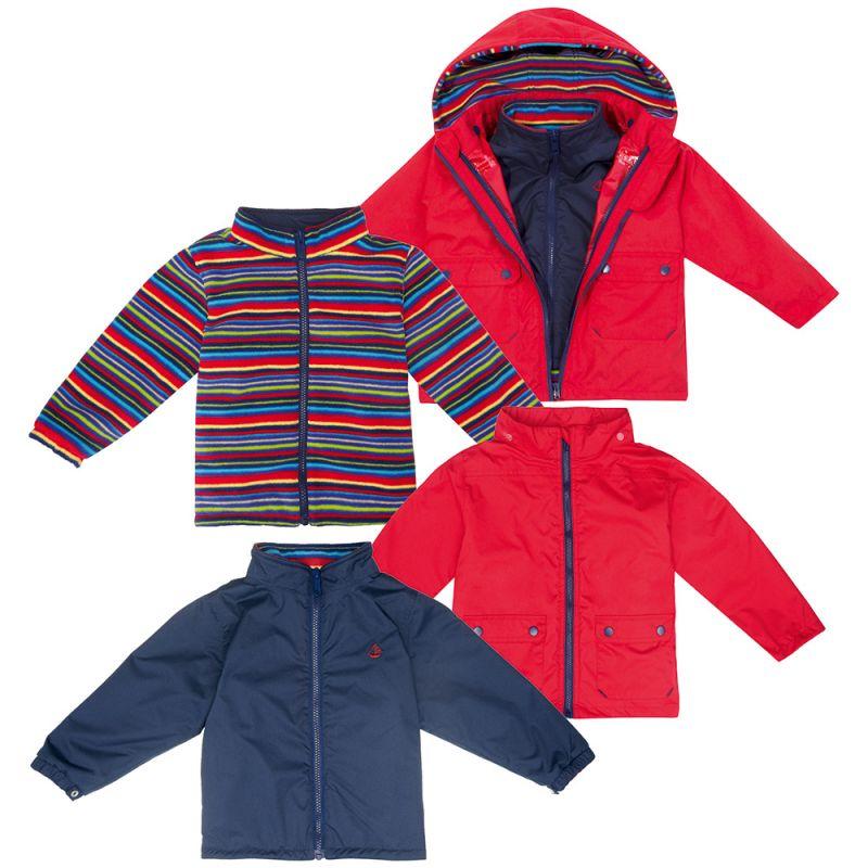 Abrigo para nieve y Lluvia Niños 4 en 1 arco iris