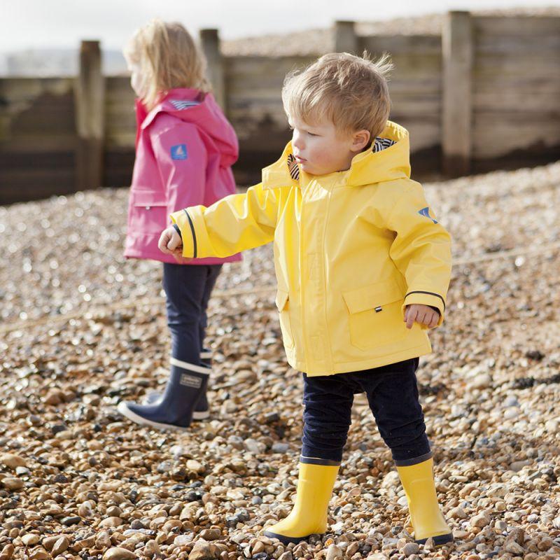 Chubasquero para niños Impermeable en color Amarillo