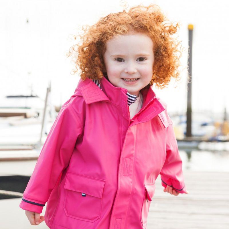 Chubasquero rosa para niña