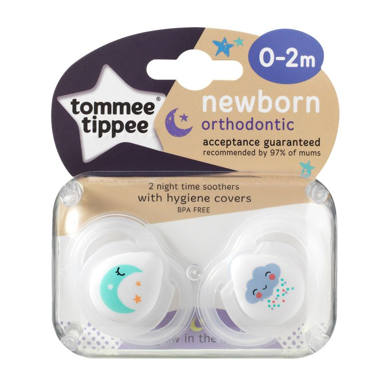 Chupetes Tommee Tippee Closer to Natura Night Time 0-2 meses - 2 unidades