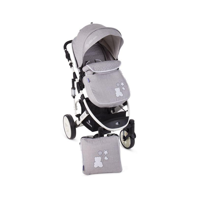 Cochecito de Bebé 2 en 1 Beloved - Kikkaboo gris