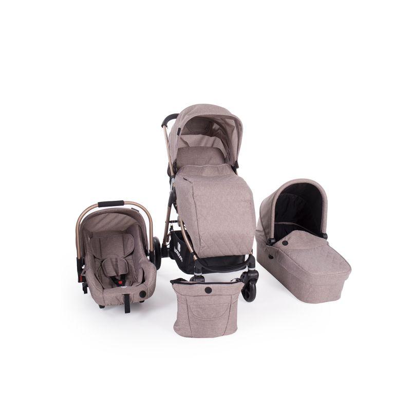 Cochecito de Bebé 3 en 1 Trinity Kikkaboo beige