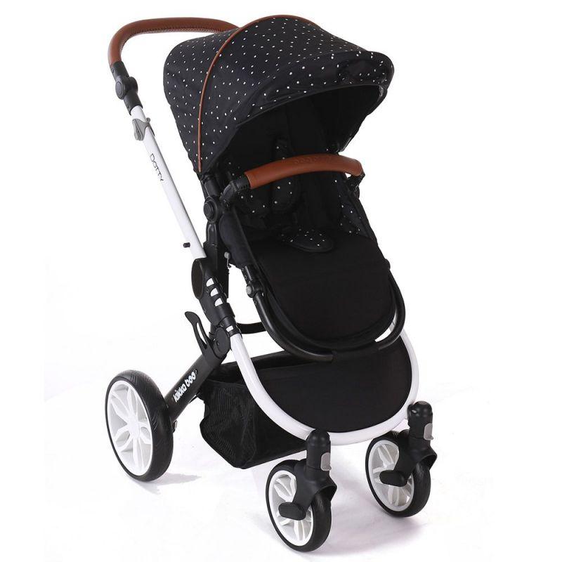Cochecito de Bebé 3 en 1 Dotty negro - Kikkaboo
