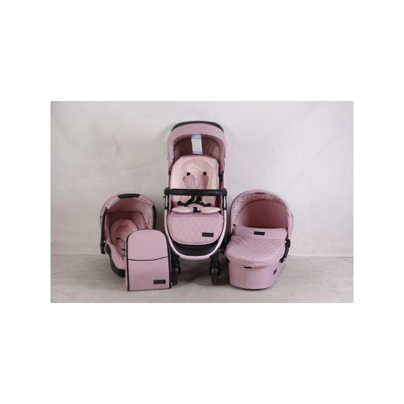 Cochecito de Bebé 3 en 1 Madrid - Kikkaboo color rosa