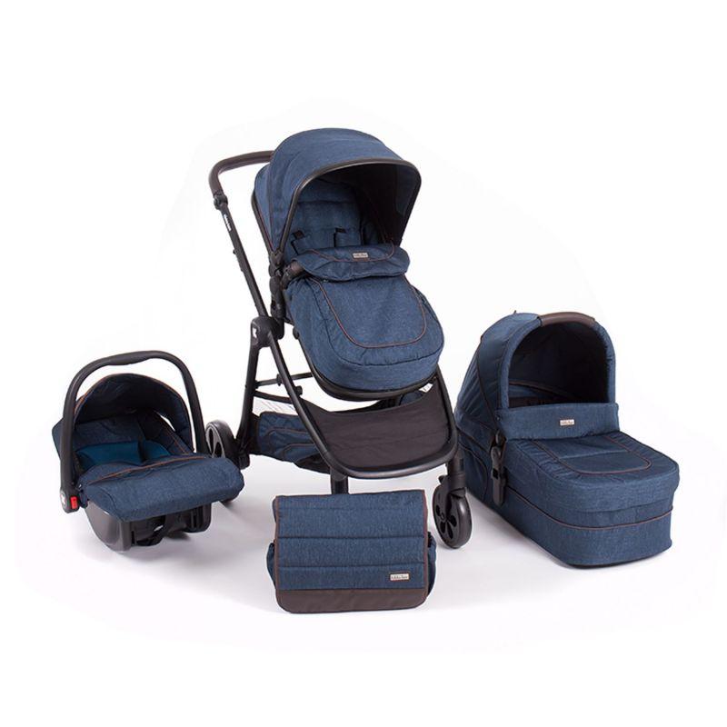 Cochecito de Bebé 3 en 1 Maui azul - Kikkaboo