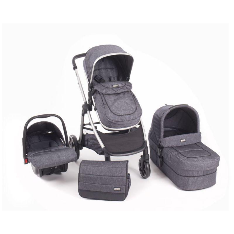 Cochecito de Bebé 3 en 1 Maui gris - Kikkaboo