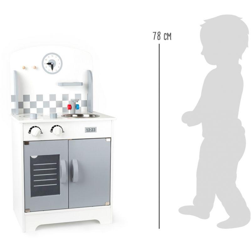 altura Cocina de juguete con reloj de pared