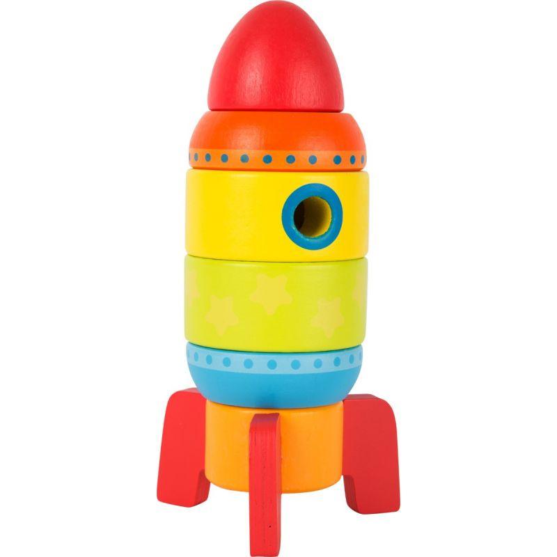 Cohete Multicolor de madera - Juguete