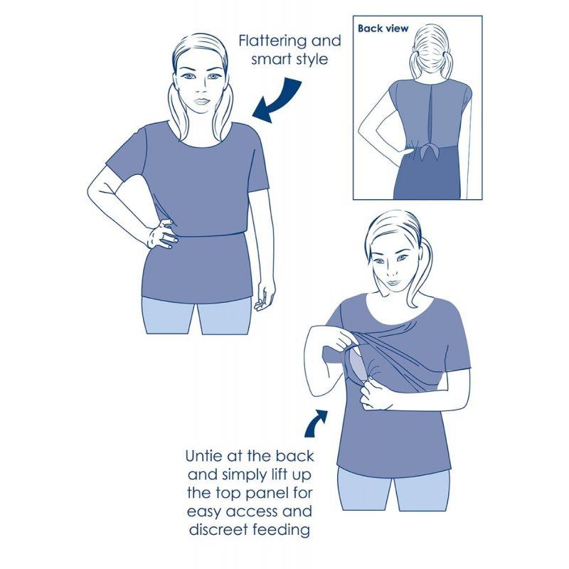 como ponerse una camiseta premama de lactancia