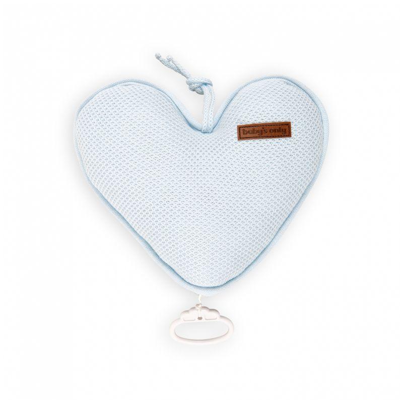 Corazón Musical para Cuna - Babys Only en color azul claro