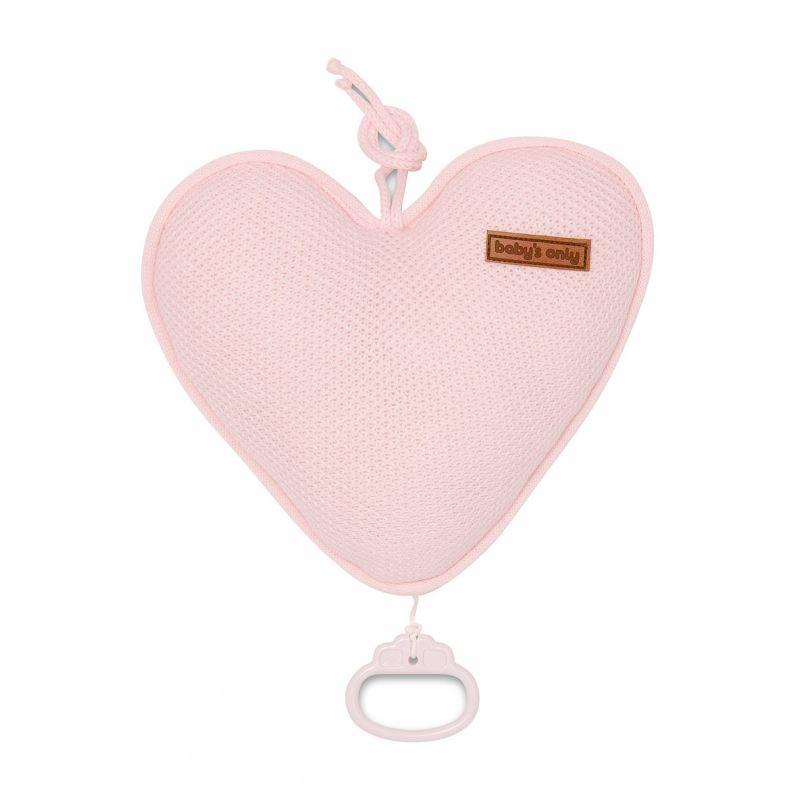 Corazón Musical para Cuna - Babys Only en color rosa