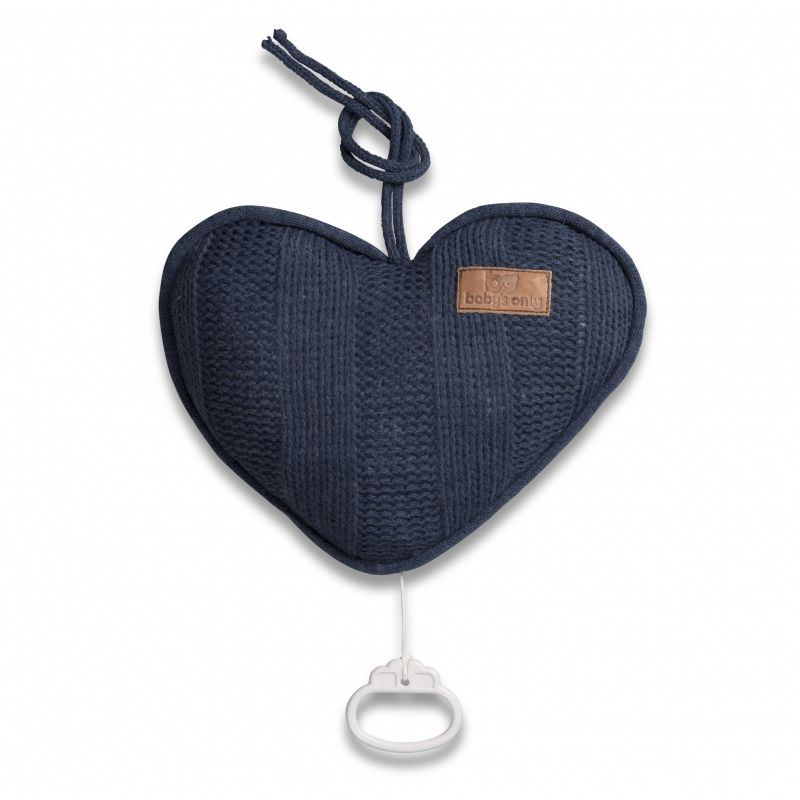 Corazón Musical para Cuna Robusto en color navy