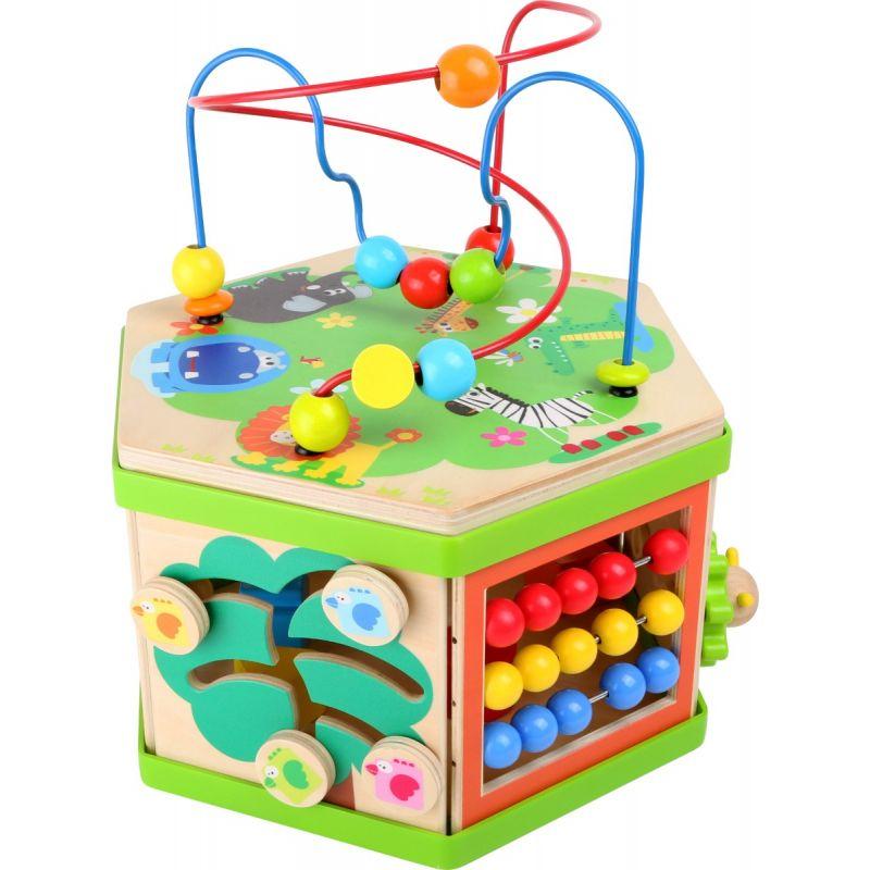 juguete de madera con aros