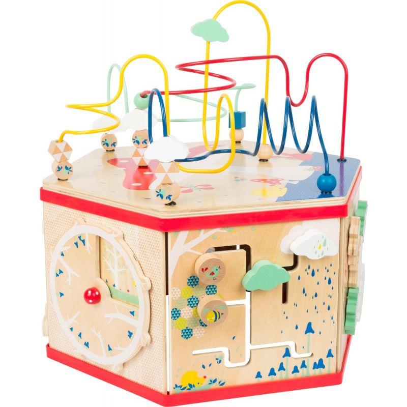 cubo de actividades para bebés