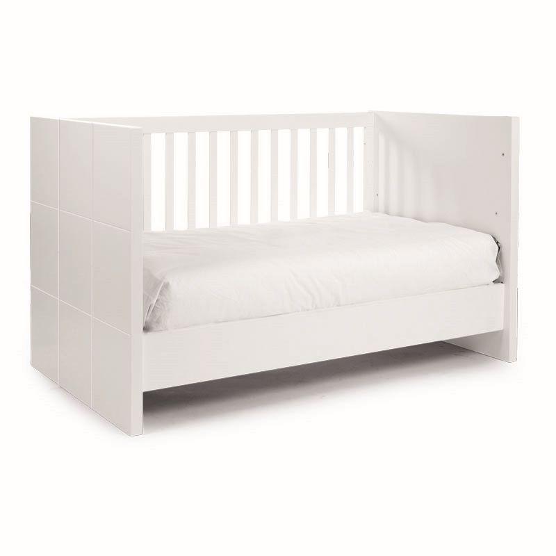 Cuna Cama 70x140 cm Quadro White - Childhome