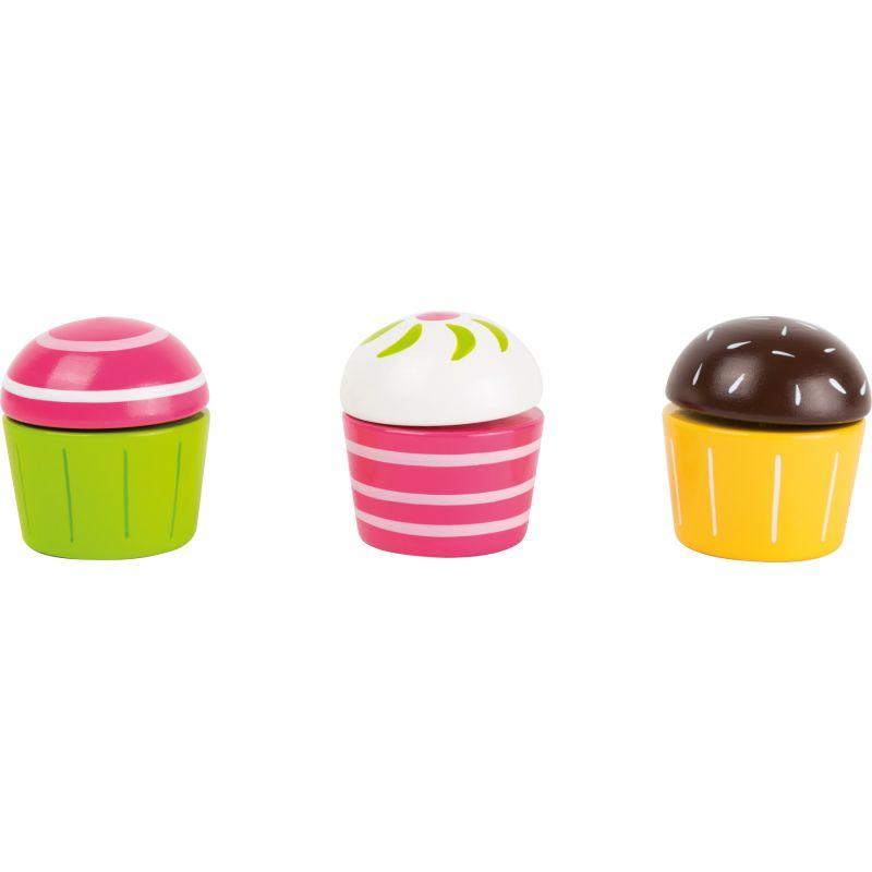 cupcakes juguetes de madera