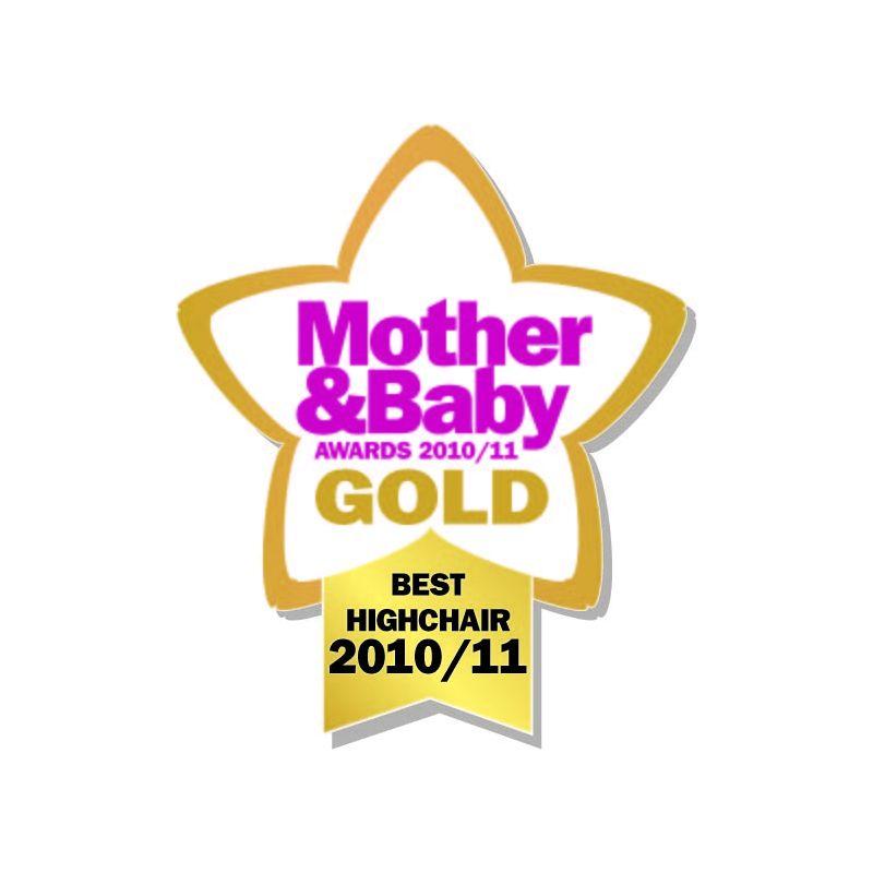 Trona de Madera para bebés en color blanco de la marca East Coast